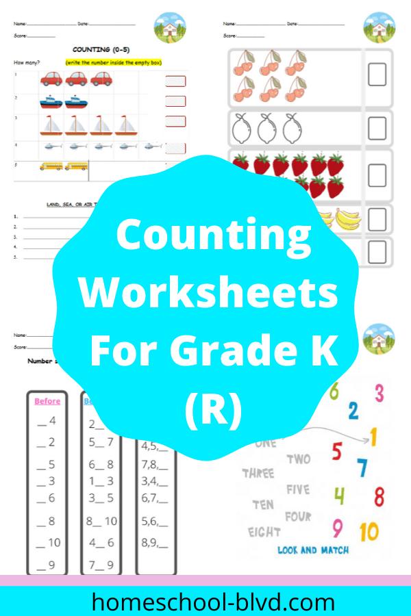 Counting Worksheets For Kindergarten Homeschool Math Worksheets In 2020 Counting Worksheets For Kindergarten Kindergarten Worksheets Math Worksheets