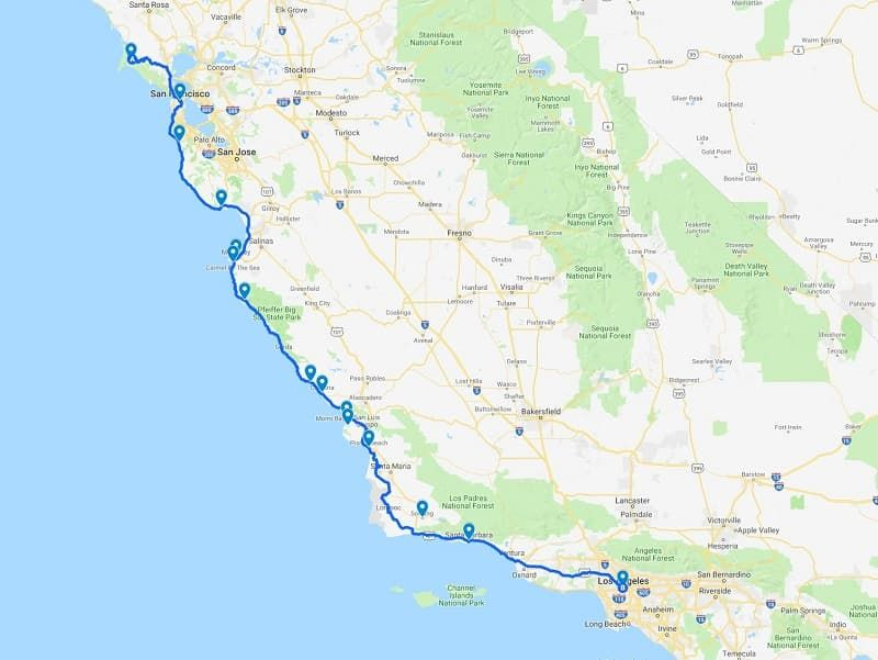 Planning a Pacific Coast Highway Road Trip from San ... on map from san francisco to los angeles, map wall, map of auburn to san francisco, map la to amsterdam, map la to hawaii, map la canada, map la san diego, map la to las vegas, map la to yosemite, map seattle to san francisco, map la florida, map la to redding, map of atlanta, map of california, map of new york city neighborhoods, map la ca, map la to ny, map la to chicago, map la to hong kong, map la to palm springs,