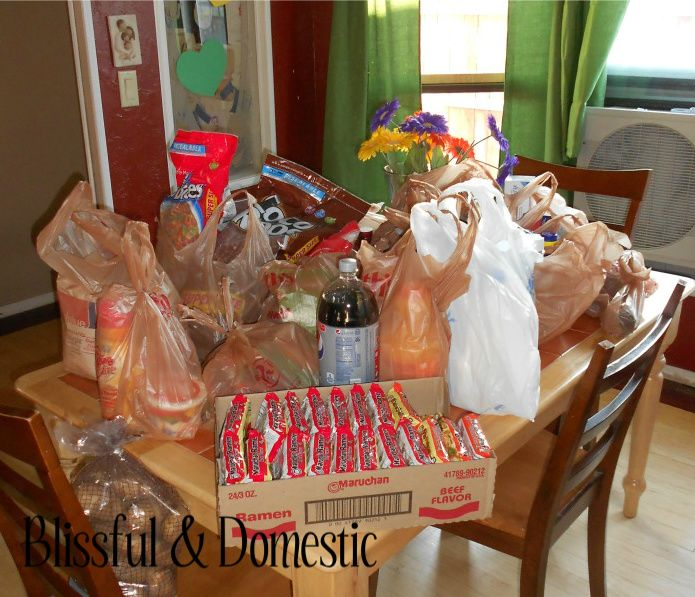 Brilliant! Monthly grocery shopping - good money saving tips!