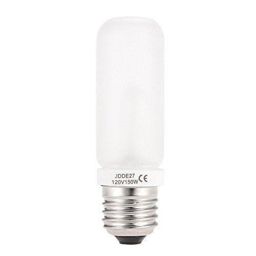 Vstar Jdd Type 150w 110 130v E26 E27 Standard Edison Screw Frosted Halogen Light Bulb Replacement Modeling Bulb For Ph Tube Lamp Flash Photography Lamp Bulb