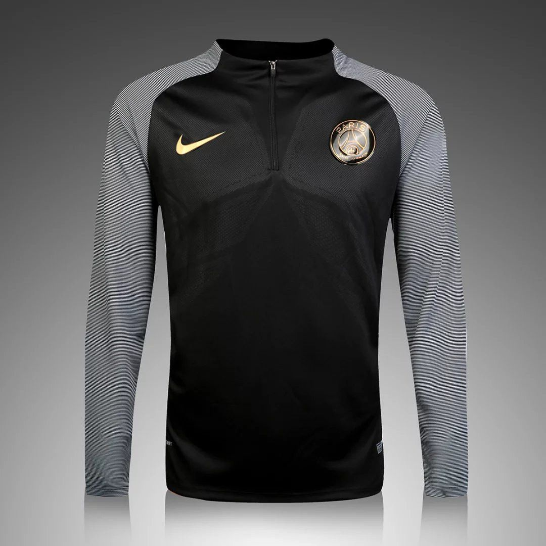 buy online 3c53c 140f0 PSG 2016/17 Black Long Sleeve(with gray sleeve) Training Top ...