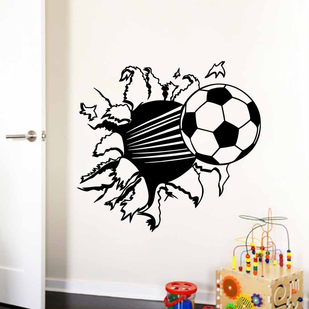 Soccer Ball Football Wall Sticker Decal Kids Room Decor Sports Boy Bedroom NEW!