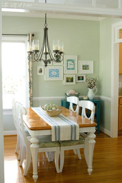 Awesome Before And After Projects And Link Up Your Own In 2020 Green Dining Room Green Dining Room Walls Green Room Decor