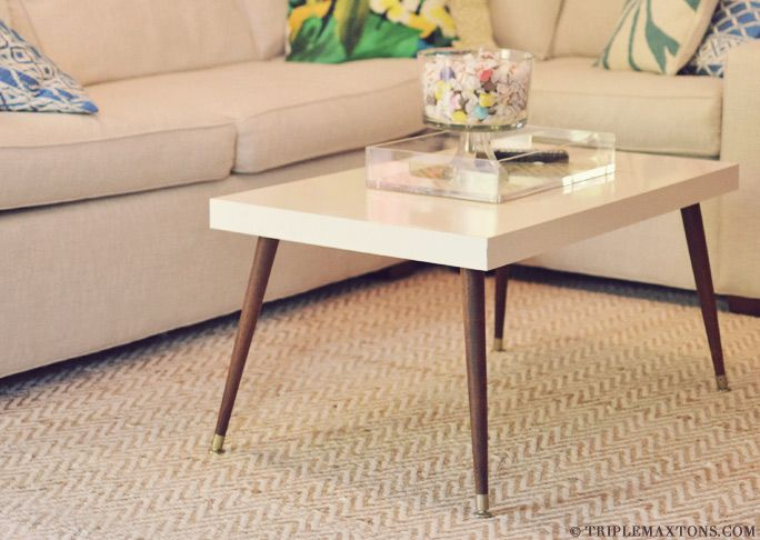 Lack Table With Mcm Legs Ikea Hack Mid Century Modern