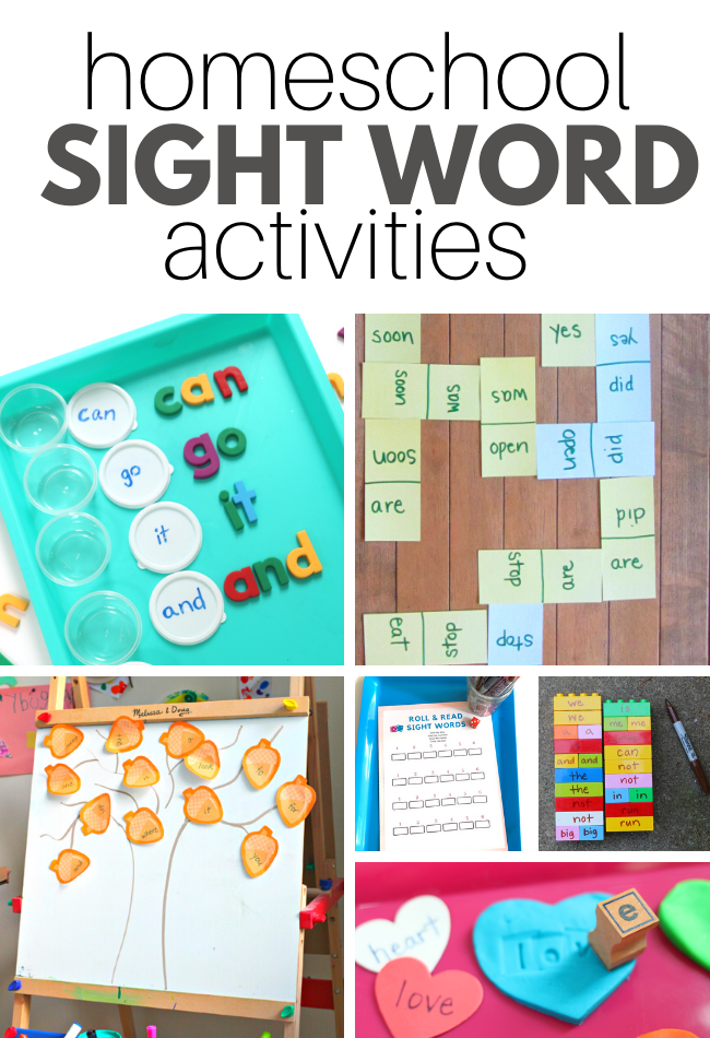 Homeschool Sight Word Activities No Time For Flash Cards
