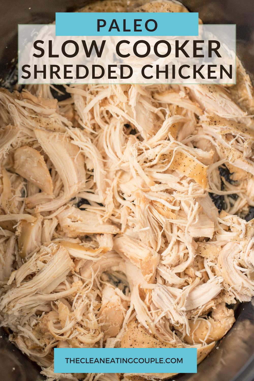 Crockpot Shredded Chicken Recipe Recipe In 2021 Healthy Chicken Recipes Shredded Chicken Chicken