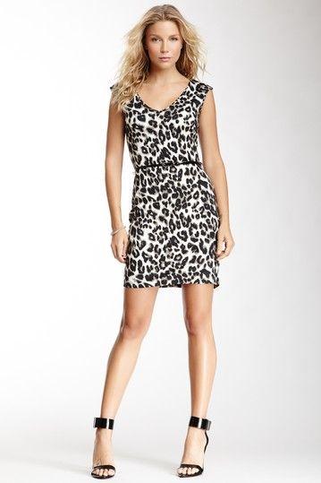 25a6ade376 V-Neck Leopard Print Dress. Needs a hot pink belt!