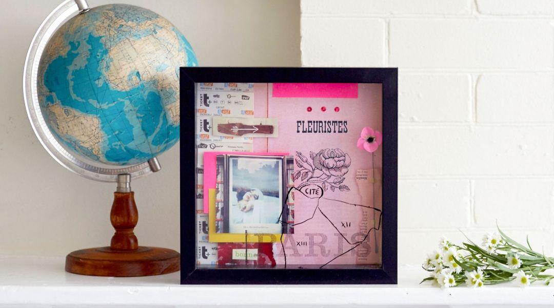 How to Make a Shadowbox Collage - Creativebug | crafts | Pinterest ...