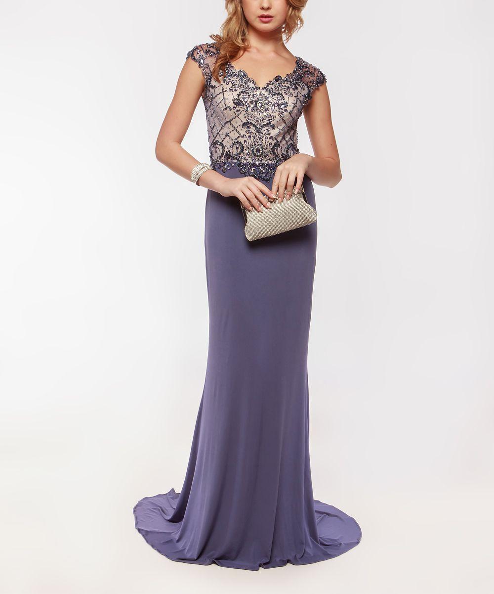 696bdc0c05e Amelia Couture Blue Textured Maxi Dress - Women