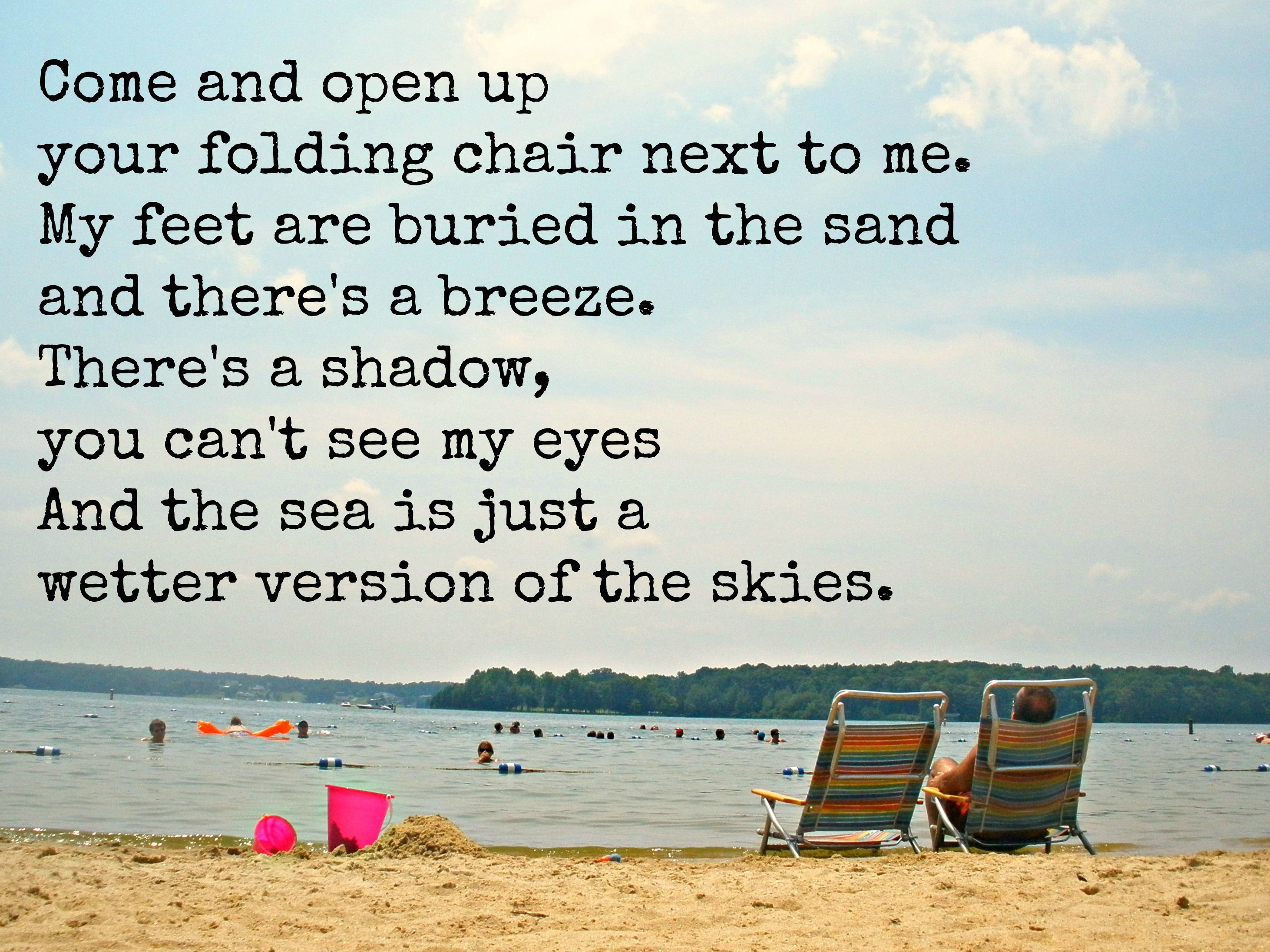 Folding Chair Regina Spektor Lyrics Cheap Tufted And The Sea Is Just A Wetter Version Of Sky