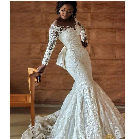 2566df35550d Nigerian Wedding Dresses With Back Bow | Miss Zhu Bridal | Wedding ...