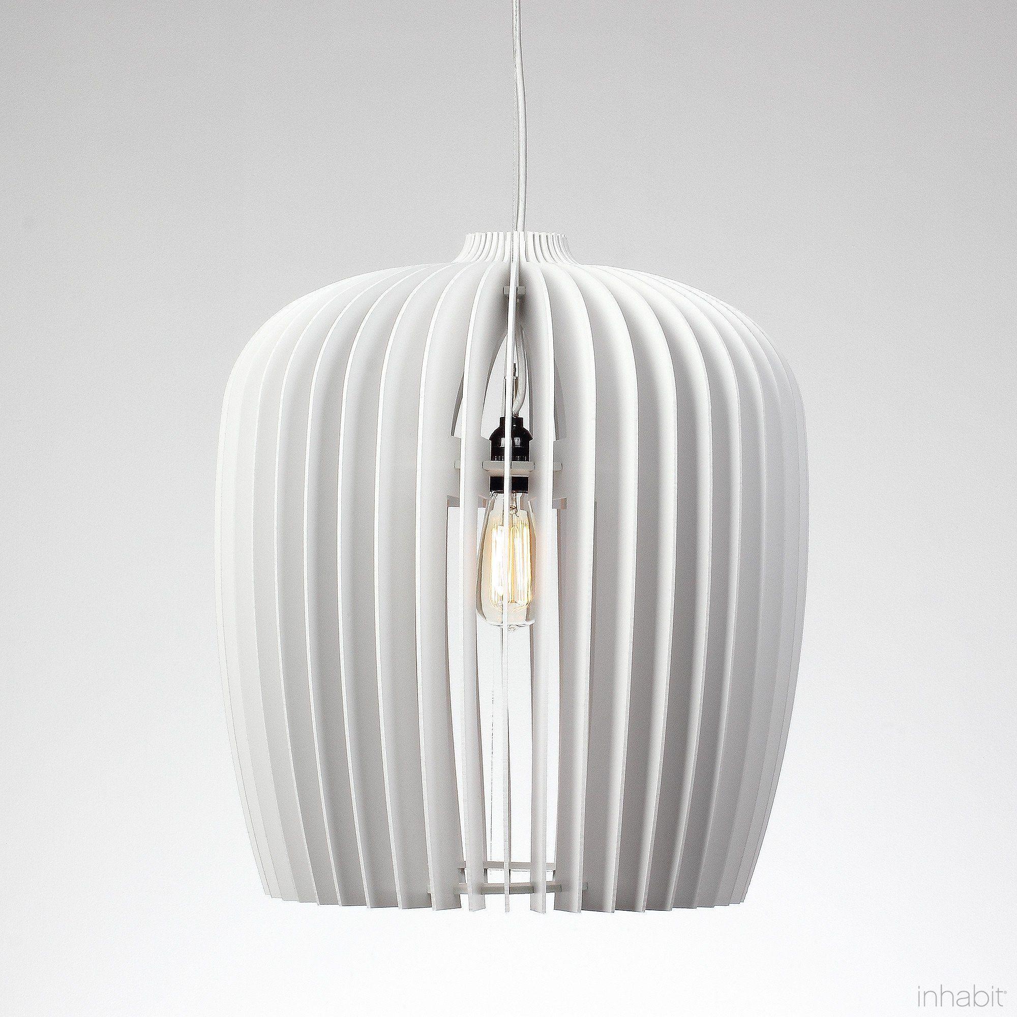 Finley White Sculptural Pendant Light