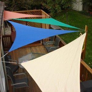 Shade Sails Over Patio Lake House Design Ideas Patio Shade