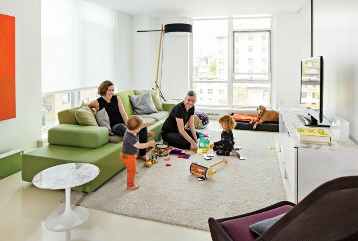 wohnzimmer einrichten wohnideen spielzeug kindergerechte - wohnzimmer einrichten grun