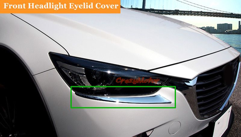 Travel & Roadway Product Reat Tail Light Lamp Eyelid Cover Trim 4pcs For Mazda 3 Axela M3 2014 Automobiles & Motorcycles