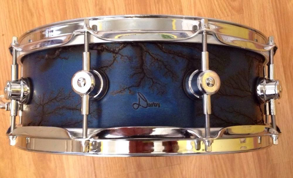 14 X 4 75 Darby Drum Company Custom Snare Drum with Fractal 10-ply