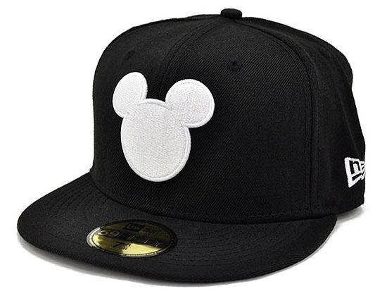 DISNEY x NEW ERA「Mickey Silhouette」59Fifty Fitted Baseball Cap ... f055a5e2480