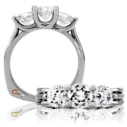 Three stone A. Jaffe Ring from House of Brilliance.