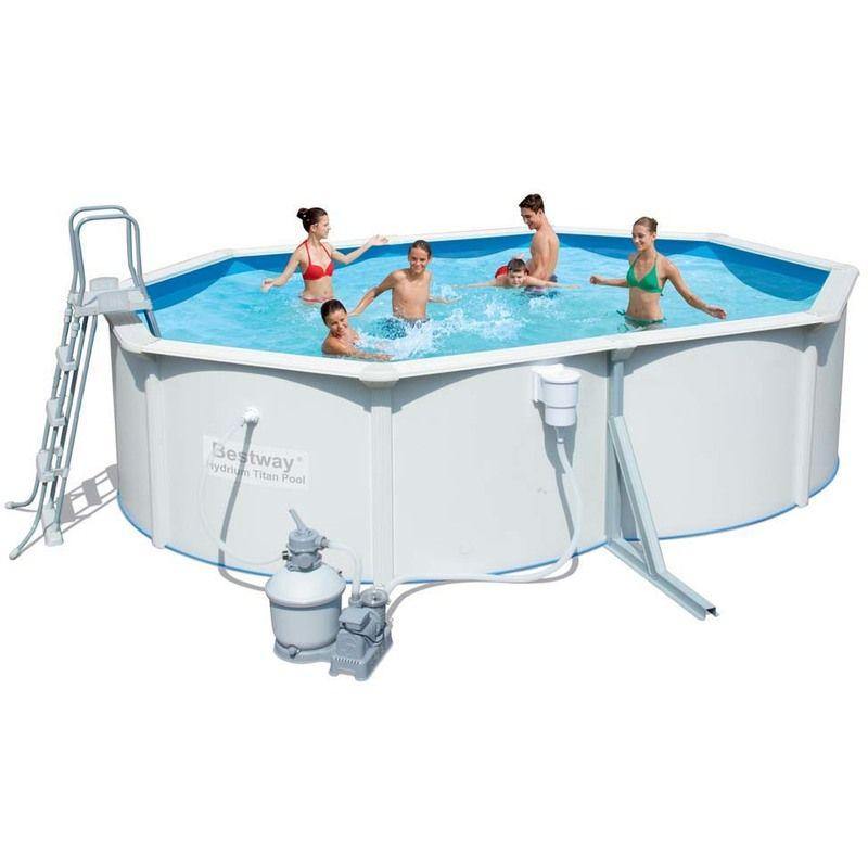 piscine acier ovale hydrium pas cher