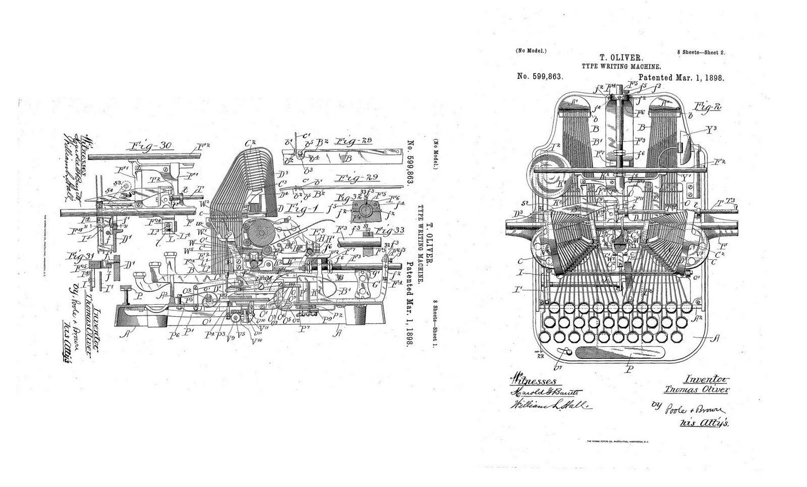 Oliver Typewriter Schematics
