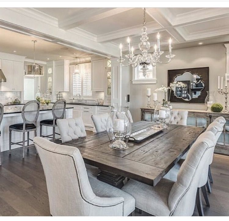Dining Room Combo  We're Dining Tonight  Pinterest  Room Amazing Combined Kitchen And Dining Room Decorating Inspiration