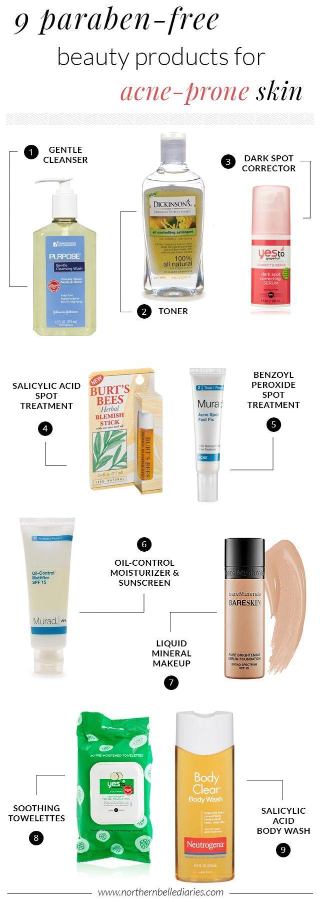 Parabenfreie Schönheitsprodukte für Akne neigender Haut