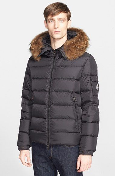 Moncler 'Byron' Down Jacket with Genuine Coyote Fur Trim available at  #Nordstrom