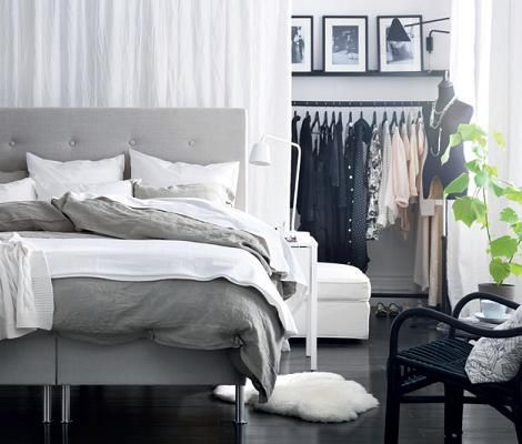 Bedroom Design Ikea Really Like The Idea Of The Closet Rack Behind A Sheet On The