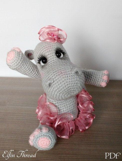 Elfin Thread- Happiness the Hippo Amigurumi PDF Pattern ( crochet ...