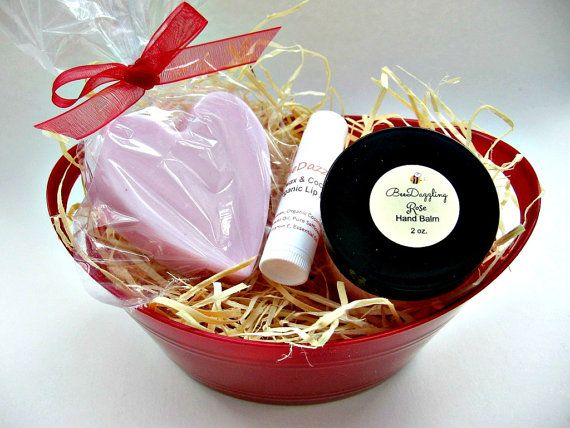 Rose Organic Spa Gift Best Friend Gift Spa Gift Basket Gift