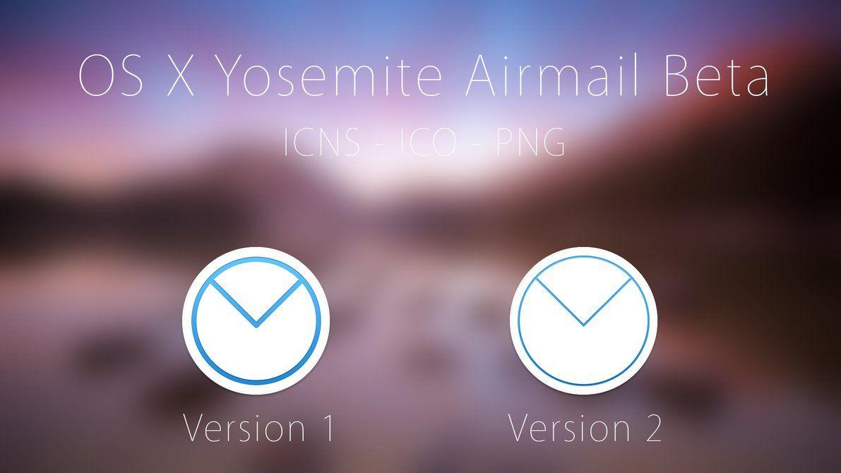 OS X Yosemite Airmail Beta Icons by Atopsy on DeviantArt