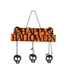 Casa Decoração de Halloween Bar KTV FELIZ DIA DAS BRUXAS Pendurado Hangtag Janela Do Dia Das Bruxas Decoração de Halloween Abóbora Pendurado Tiras