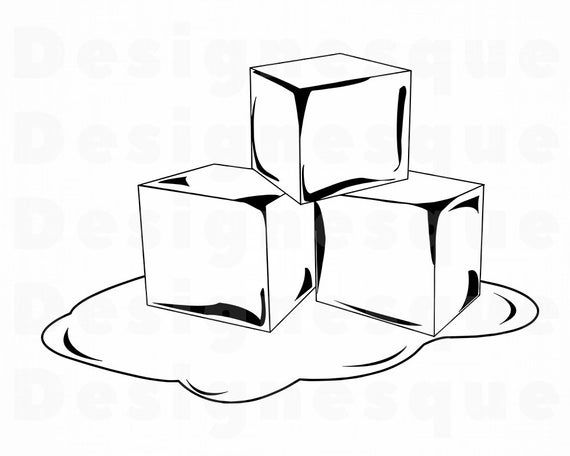 Melting Ice Svg Ice Svg Ice Cubes Svg Ice Clipart Ice Etsy Ice Clipart Ice Cube Ice Cube Drawing