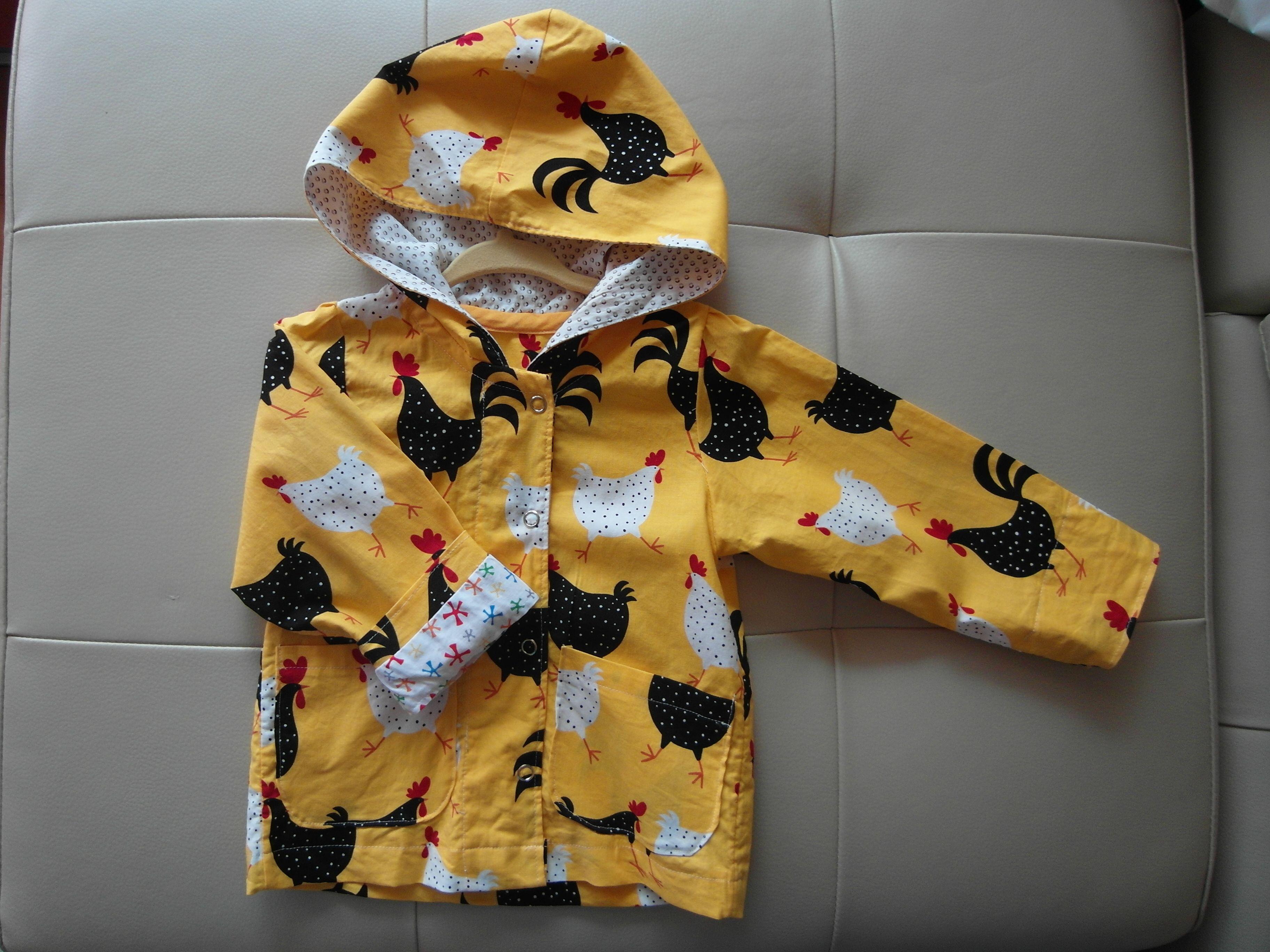 Baby Anorak, Fabric: Robert Kaufman(USA) AEK-11219-5 YELLOW