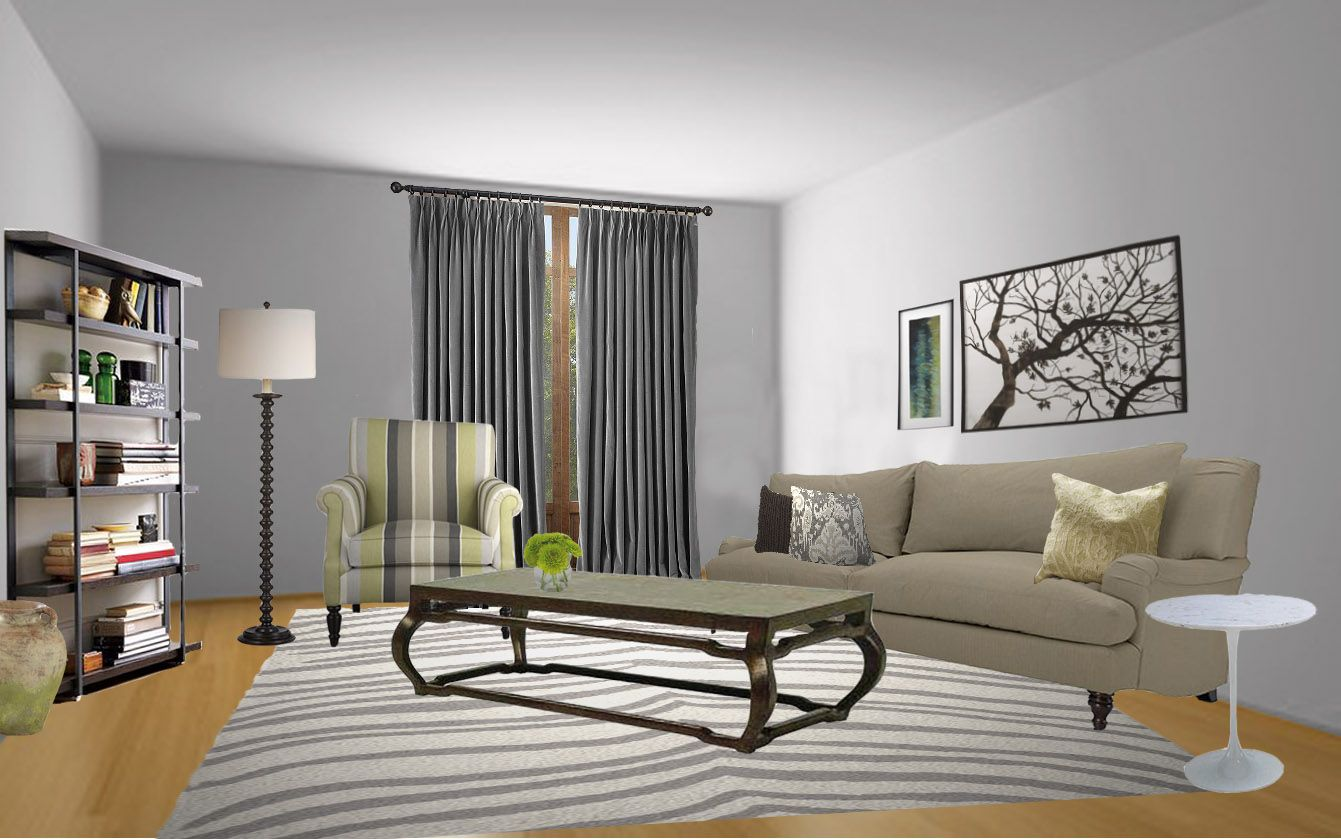 What color curtains go with light gray walls curtain for Wall to wall curtain