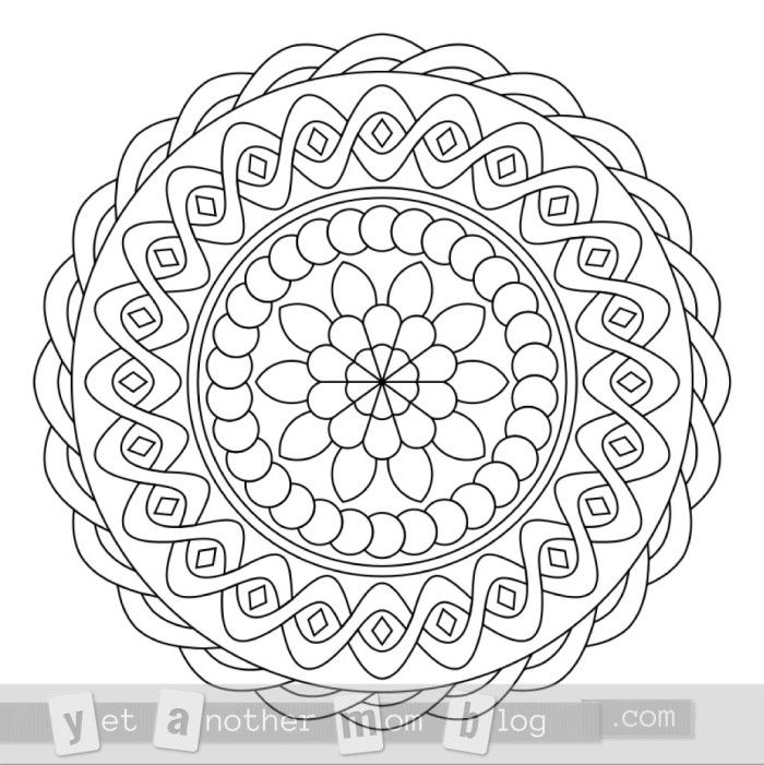 App to make photos into coloring pages ~ How to Create A Mandala Coloring Page | Posts, Colors and ...