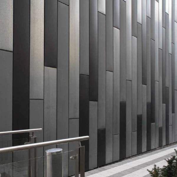 Zinc Metal Panels : Fachada de paneles zinc en varios colores edificio