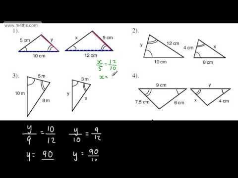 Gcse Maths Similar Triangles Full Tutorial Similarity Congruent Hi Gcse Math Similar Triangles Math Similar triangles worksheets with