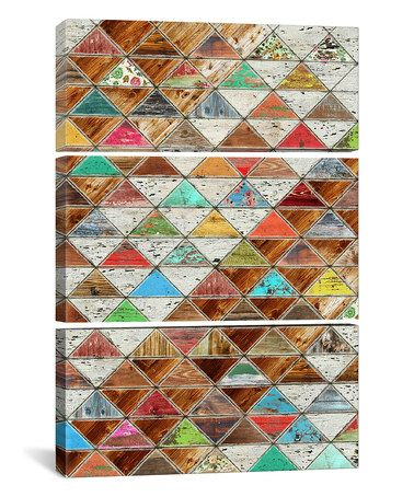 Look what I found on #zulily! Diego Tirigall Love Pattern Gallery-Wrapped Canvas Set #zulilyfinds