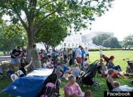 """On Saturday, more than 600 moms and babies gathered on the West Lawn in Washington D.C. to participate in the """"Great Nurse-In,"""" an event planned to """"demystify breastfeeding and make it as commonplace as bottle-feeding to [a] passersby."""""""