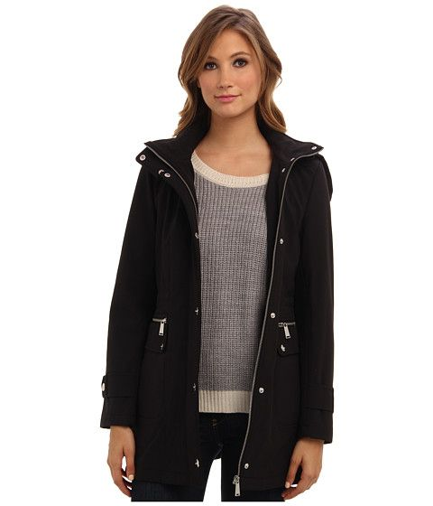 Dkny hooded anorak soft shell jacket 51828 y4, Black
