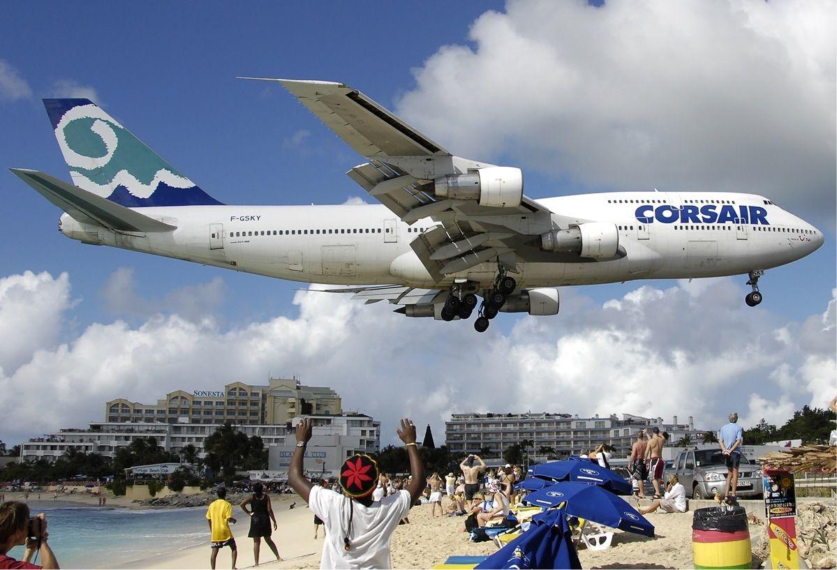 Philipsburg Sint Maarten Boeing 747 Air Carrier Boeing