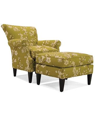 Pleasant Maya Pear Accent Chair Ottoman Would Look Great By The Customarchery Wood Chair Design Ideas Customarcherynet