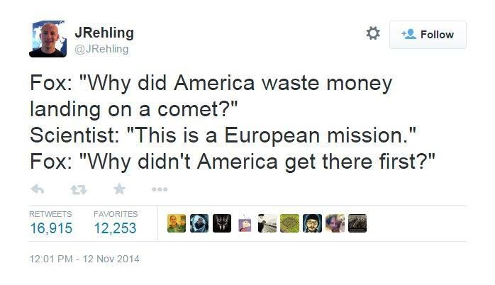 Why did America waste money landing on a comet?
