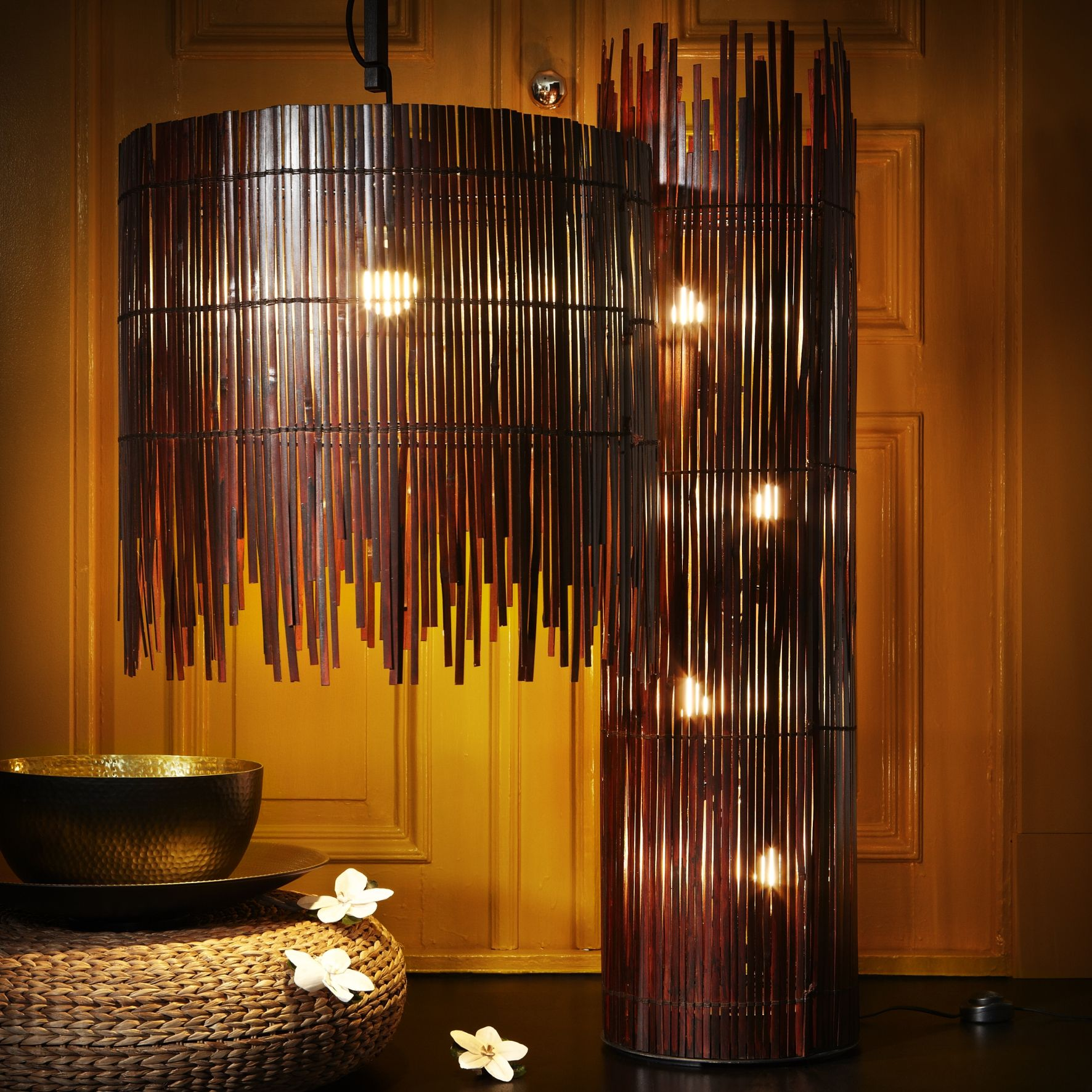 Like light through a fence ROTVIK floor and ceiling lamps are