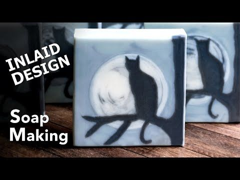 Moon Cat Silhouette Soap Making | Soap Challenge Club