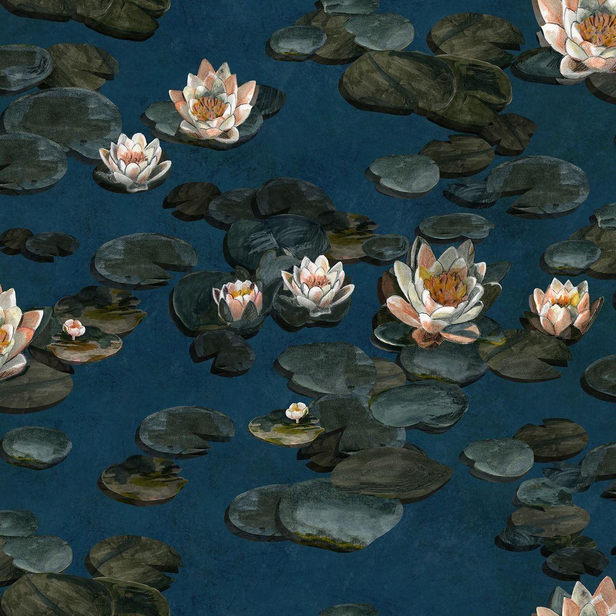 Water lilies painting image by Iboja Mišković on lepe