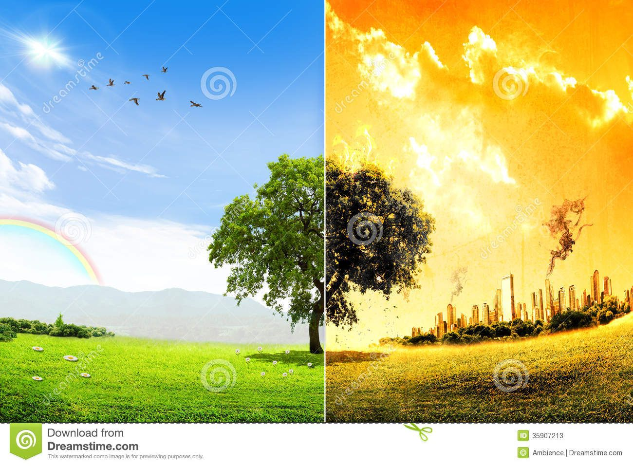 Stock Photos Global Warming And Pollution Concept Image
