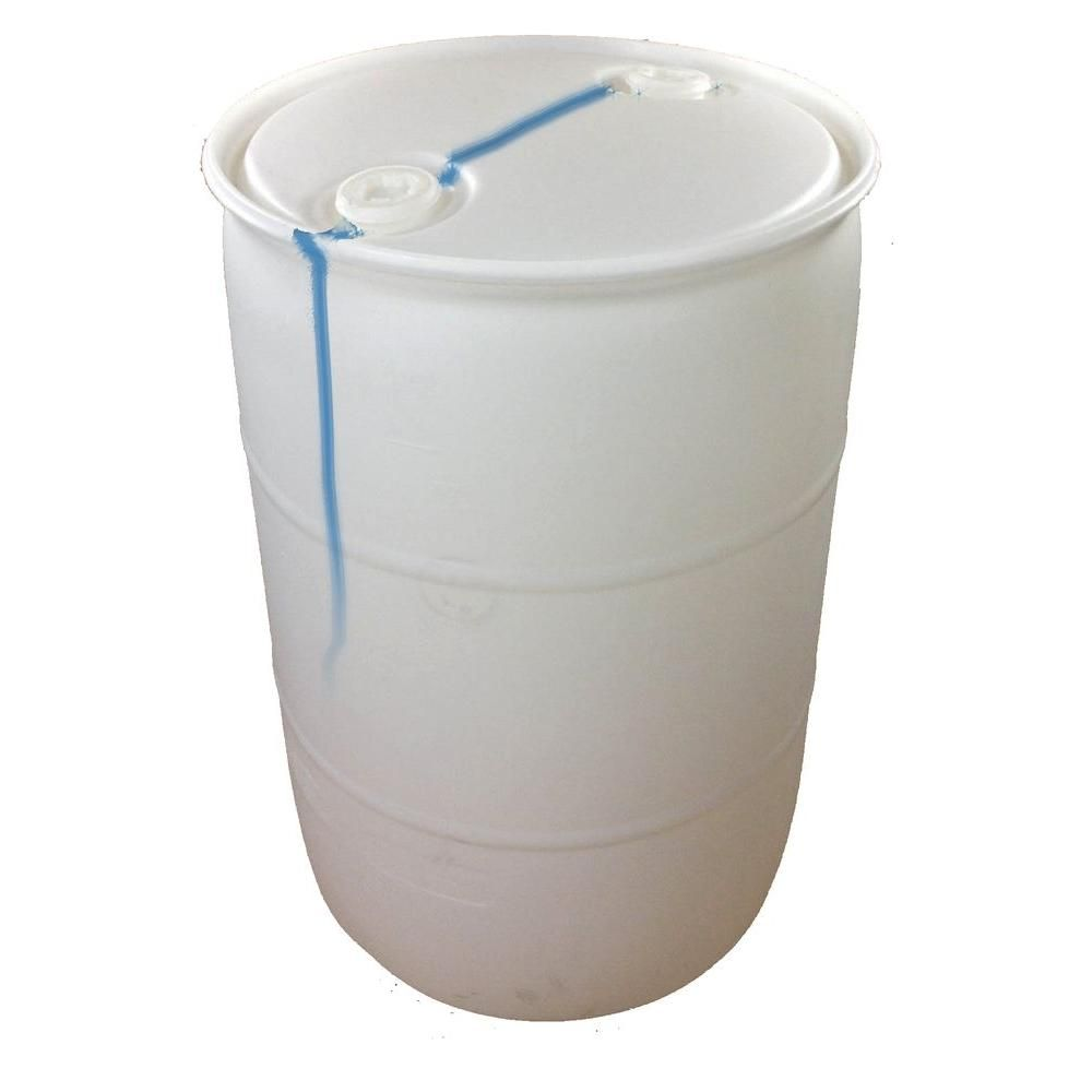 Earthminded 55 Gallon Blemished Natural White Industrial Plastic Drum Pth0941 The Home Depot In 2020 Plastic Drums Rain Water Collection White Industrial