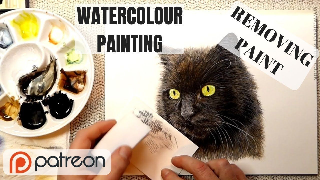 How To Remove Watercolour Paint This Is A Handy Little Way That